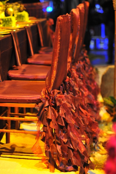 Dressed up chairs for dinner