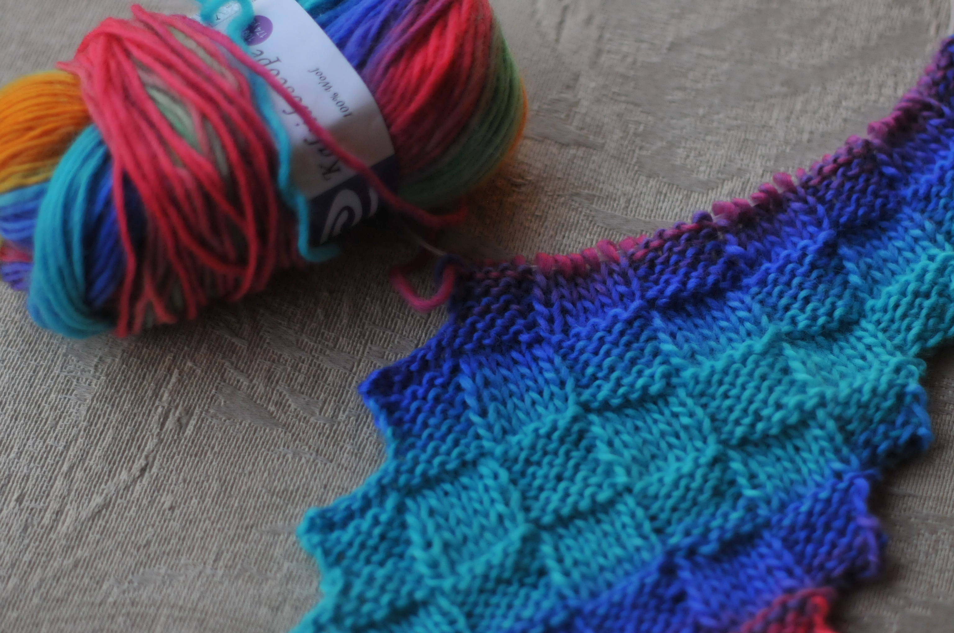 Entrelac colouring with yarn as usual i made a slight change from the original pattern the original pattern has the right side showing the entrelac stitch and the wrong side the purl bankloansurffo Gallery